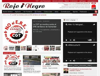 Main page screenshot of rojoynegro.info