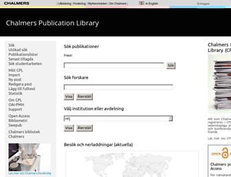 publications.lib.chalmers.se screenshot