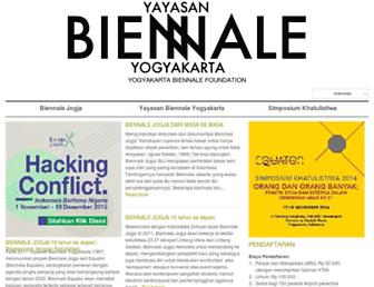 Main page screenshot of biennalejogja.org