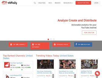 vidooly.com screenshot