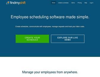 findmyshift.com screenshot