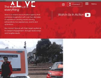 aliveeventsagency.com.au screenshot