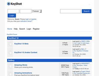 forum.keyshot.com screenshot