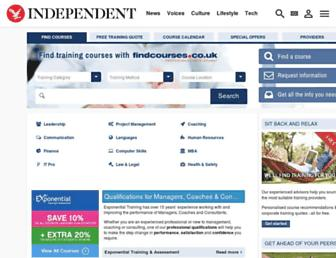 courses.independent.co.uk screenshot