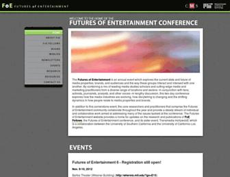 Main page screenshot of convergenceculture.org