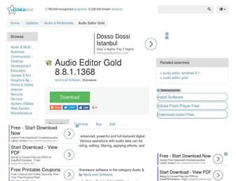 audio-editor-gold.updatestar.com screenshot