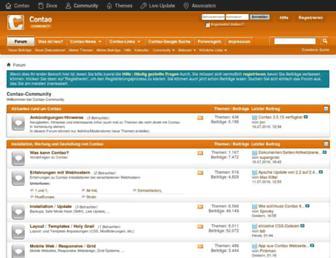 Main page screenshot of contao-community.de