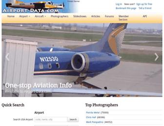 airport-data.com screenshot