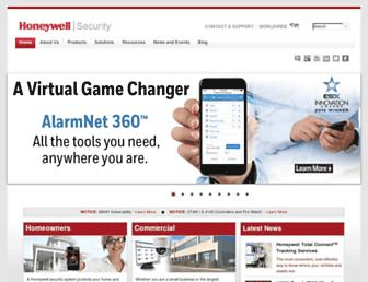 security.honeywell.com screenshot