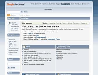 wiki.simplemachines.org screenshot