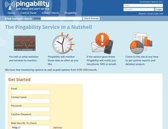pingability.com screenshot