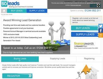 simplyonlineleads.com screenshot