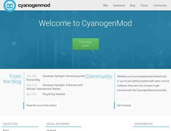 Thumbshot of Cyanogenmod.com