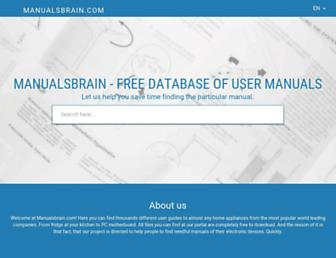 manualsbrain.com screenshot