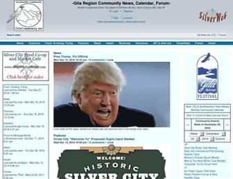 Main page screenshot of gilacommunity.net