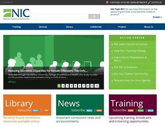 Main page screenshot of nicic.gov