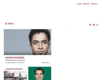 Main page screenshot of luxortheater.nl