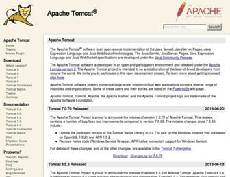 tomcat.apache.org screenshot