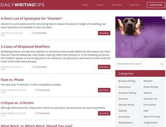Thumbshot of Dailywritingtips.com