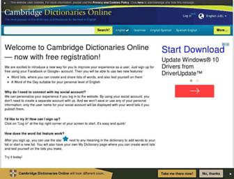 dictionary.cambridge.org screenshot