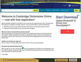 dictionary.cambridge.org screenshot