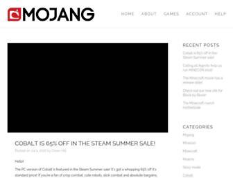 Thumbshot of Mojang.com
