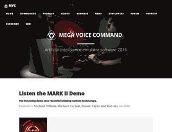 mega-voice-command.com screenshot