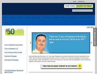 delawareinc.com screenshot