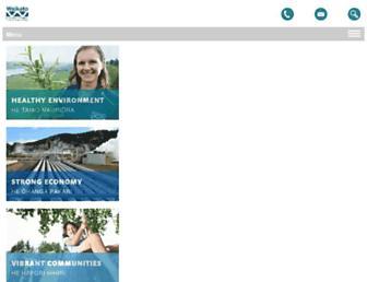Main page screenshot of ew.govt.nz