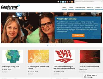 conferenz.co.nz screenshot