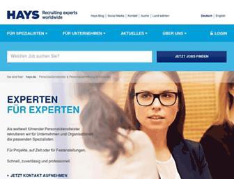 hays.de screenshot