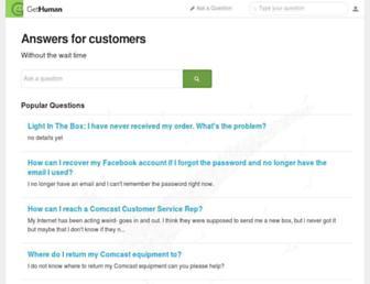 answers.gethuman.com screenshot