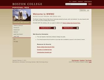 www2.bc.edu screenshot