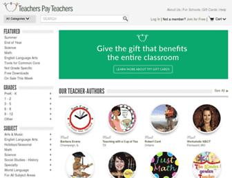 Thumbshot of Teacherspayteachers.com