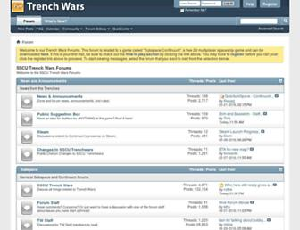 Main page screenshot of forums.trenchwars.org