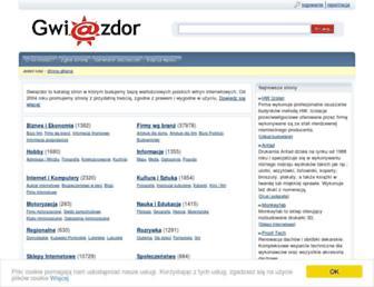 Main page screenshot of gwiazdor.pl