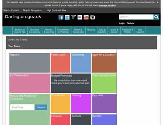 Main page screenshot of darlington.gov.uk
