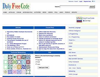 dailyfreecode.com screenshot
