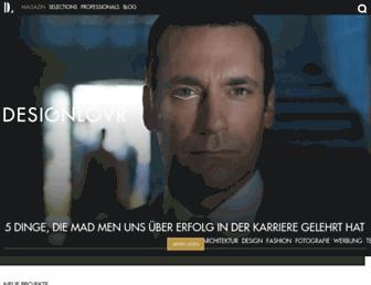 Main page screenshot of designlovr.net