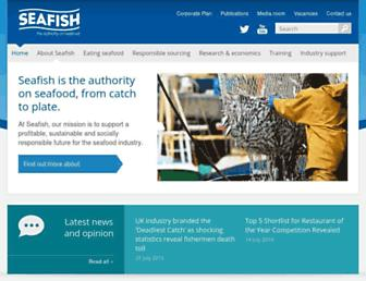 Main page screenshot of seafish.org