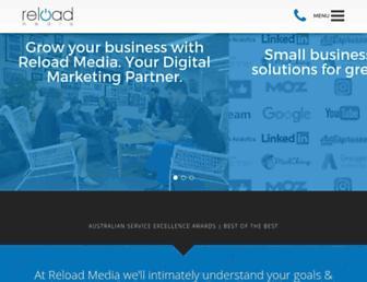 reloadmedia.com.au screenshot