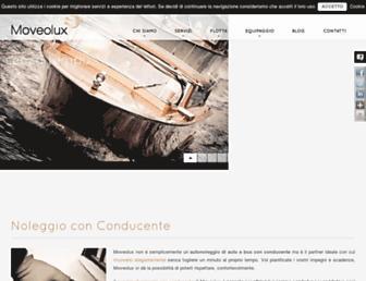 Main page screenshot of moveolux.it