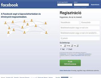 hu-hu.facebook.com screenshot