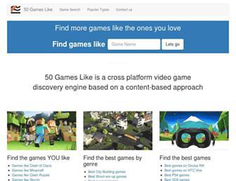 50gameslike.com screenshot