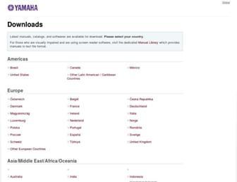 download.yamaha.com screenshot