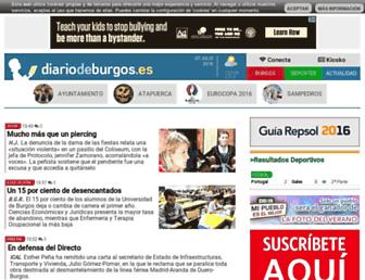 Main page screenshot of diariodeburgos.es