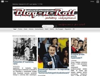 Main page screenshot of blog-n-roll.pl