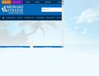 Main page screenshot of broward.edu