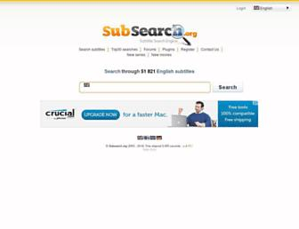 subsearch.org screenshot