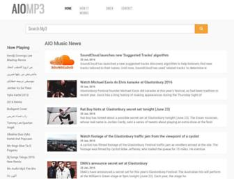 aiomp3.com screenshot